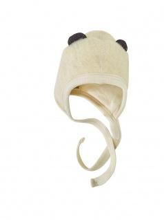 Wollplüsch-Mütze mit Öhrchen