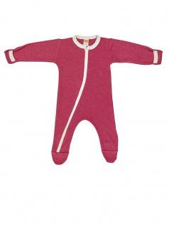 Baby-Schlafanzug Einteiler aus Wolle/Seide