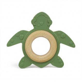 Bio-Beißtier Schildkröte aus Naturkautschuk + Holz