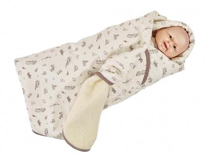Baby-Einschlagdecke, Wollplüsch 100x100 cm