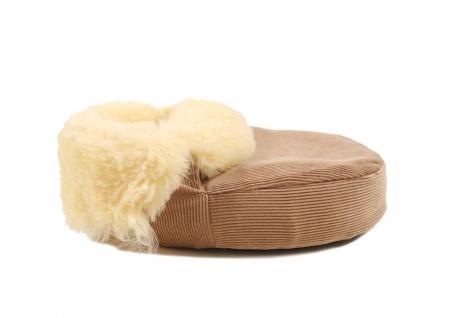 Fußwärmer aus Lammfell corde/beige