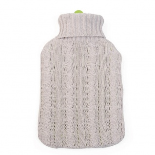 Bio-Wärmflasche mit Bezug 2 Liter