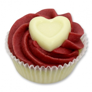 XL Badebutter-Cupcake mit Schafsmilch, Cranberry