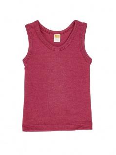 Kinder-Hemdchen ohne Arm aus Wolle/Seide