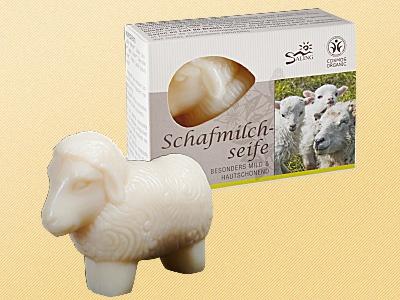 """Schafsmilchseife Schaf weiß """" zertifiziert"""""""