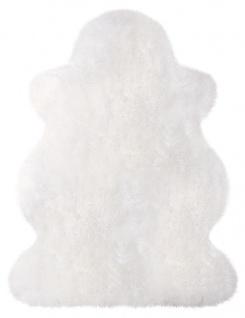Patchworkfell 80x50cm weiß