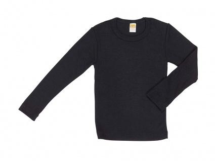 Kinder-Hemdchen langarm aus Wolle/Seide