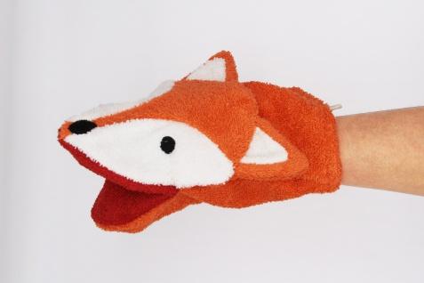 BIO Waschlappen für Erwachsenenhände, Fuchs Finja
