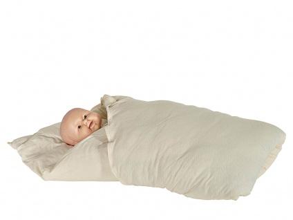 Baby-Einschlagdecke, dünnes Wollkissen 100x100 cm