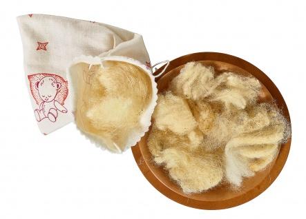 Wolle mit hohem Fettgehalt
