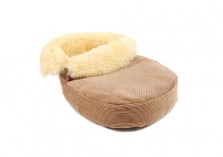 Fußwärmer aus Lammfell corde/beige - Vorschau 2