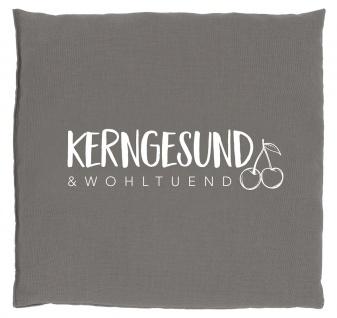 """Kirschkernkissen """" Kerngesund"""", 24x25 cm anthrazit"""