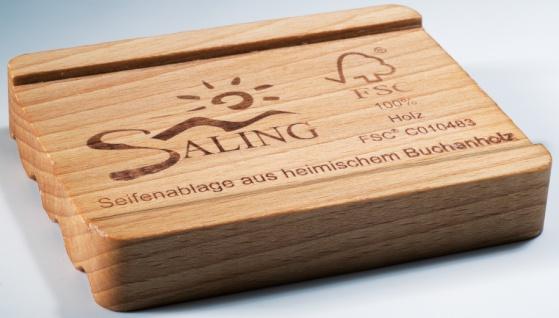 Seifenablage aus heimischem Buchenholz