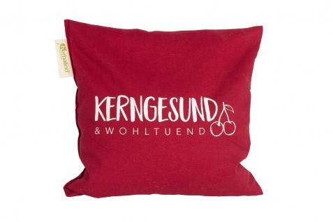 """Kirschkernkissen """" Kerngesund"""", 24x25 cm rot"""