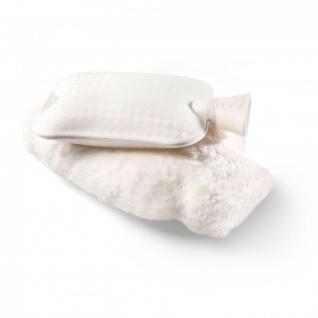Wärmflasche mit Lammfellbezug klein