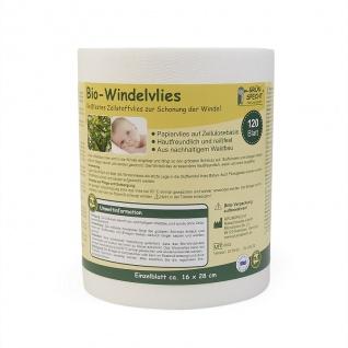 Bio-Windelvlies, 120 Blatt (15, 5 x 28 cm) auf Rolle - Vorschau 2