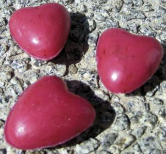 Schafsmilchseife Herz mini rot