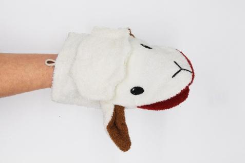BIO Waschlappen für Erwachsenenhände, Schaf Stella