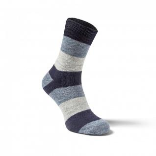 Alpaka Socken STRADO 2-er Pack, breit gestreift