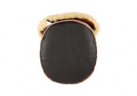 Fußwärmer aus Lammfell corde/beige - Vorschau 3
