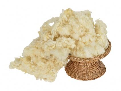 1 Kg gewaschene Schurwolle natur
