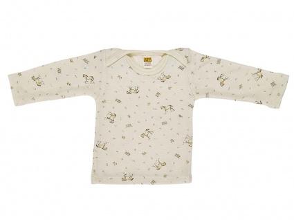 Baby-Hemdchen, lang Arm aus Wolle/Seide