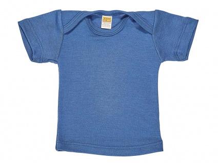 Baby-Hemdchen, 1/4 Arm aus Wolle/Seide