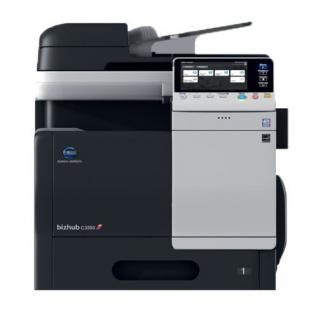 Konica Minolta bizhub C3350, gebrauchtes Multifunktionsgerät 15.166 Blatt gedruckt Transferband NEU