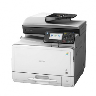 Ricoh Aficio MP C305spf, gebrauchter Multifunktionsdrucker 25.318 Blatt gedruckt ALLE TROMMEL NEU