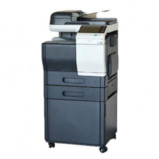 Konica Minolta bizhub C3850, 46.351 Blatt gedruckt gebrauchtes Multifunktionsgerät mit PF-P13 u. Unterschrank DK-P03, Fax