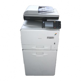 Ricoh Aficio MP C305sp, gebrauchter Multifunktionsdrucker 2.542 Blatt gedruckt mit. Unterschrank Trommel Sw, M, C NEU - Vorschau