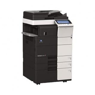 Konica Minolta bizhub C554e gebrauchter Kopierer 7.578 Blatt gedruckt mit PC-410, FS-533, PK-519, DF-701, Faxkarte, UK-204 i-Option-Kit, LK-105 i-Option-Lizenz