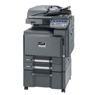Kyocera TASKalfa 2550ci generalüberholter Kopierer 95.129 Blatt gedruckt mit 2 PF u. Unterschrank, Faxkarte