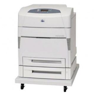 HP Color LaserJet 5550DTN, generalüberholter Farblaserdrucker, unter 100.000 Blatt gedruckt, mit Rollwagen