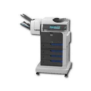 HP Color LaserJet CM4540fskm mit 3 Fächern, 453.230 Blatt gedruckt, generalüberholtes Multifunktionsgerät mit Finisher u. Hefter, TONER MAGENTA NEU