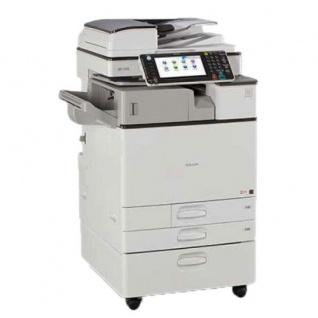 Ricoh Aficio MP C2003 generalüberholter Kopierer 67.231 Blatt gedruckt mit Unterschrank SR-3130 Finisher Toner M u. G NEU