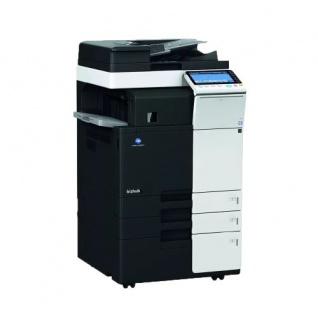 Konica Minolta bizhub C364e gebrauchter Kopierer 147.390 Blatt gedruckt mit 2.PF, PC-410, DF-624 u. FS-533 Finisher