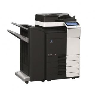 Konica Minolta bizhub C364e gebrauchter Kopierer 90.499 Blatt gedruckt mit 2.PF, PC-210 u. FS-534 Finisher, SD-511