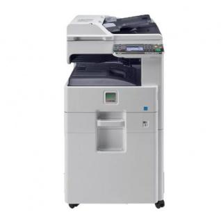 Kyocera FS-6530MFP, gebrauchter Kopierer 124.161 Blatt gedruckt, mit Unterschrank, DP-470, Trommel NEU