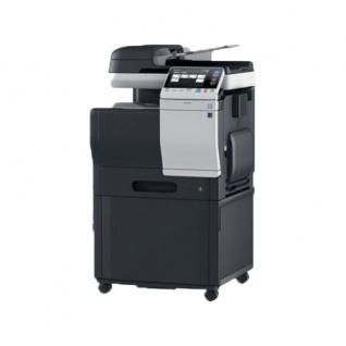 Konica Minolta bizhub C3350, 38.373 Blatt gedruckt gebrauchtes Multifunktionsgerät mit Unterschrank DK-P03
