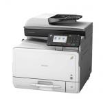 Ricoh Aficio MP C305spf, gebrauchter Multifunktionsdrucker 9.610 Blatt gedruckt ALLE TROMMEL NEU