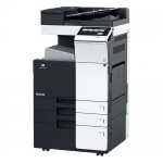 Konica Minolta bizhub C224e gebrauchter Kopierer 141.360 Blatt gedruckt mit 2.PF, PC-410, DF-624, inkl. Faxkarte