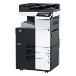 Konica Minolta bizhub C224e gebrauchter Kopierer 61.611 Blatt gedruckt mit 2.PF, Unterschrank