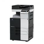 Konica Minolta bizhub C308 gebrauchter Kopierer 10.753 Blatt gedruckt, mit DK-510 Unterschrank, DF-704