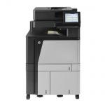 HP Color LaserJet Enterprise Flow MFP M880z+ NFC/WL, 247.165 Blatt gedruckt generalüberholter Kopierer Toner Sw NEU, Trommel Sw, C, M NEU