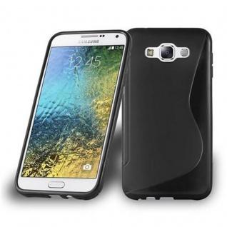 Cadorabo Hülle für Samsung Galaxy E7 2015 in OXID SCHWARZ - Handyhülle aus flexiblem TPU Silikon - Silikonhülle Schutzhülle Ultra Slim Soft Back Cover Case Bumper