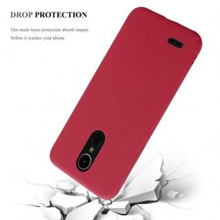 Cadorabo Hülle für LG K10 2017 in FROSTY ROT - Hardcase Handyhülle aus Plastik gegen Kratzer und Stöße - Schutzhülle Bumper Ultra Slim Back Case Hard Cover - Vorschau 4