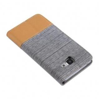 Cadorabo Hülle für Samsung Galaxy A5 2016 in HELL GRAU BRAUN - Handyhülle mit Magnetverschluss, Standfunktion und Kartenfach - Case Cover Schutzhülle Etui Tasche Book Klapp Style - Vorschau 4
