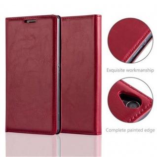 Cadorabo Hülle für Sony Xperia Z3 in APFEL ROT Handyhülle mit Magnetverschluss, Standfunktion und Kartenfach Case Cover Schutzhülle Etui Tasche Book Klapp Style - Vorschau 2