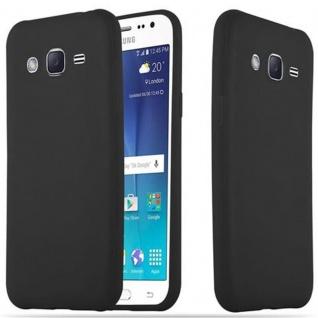 Cadorabo Hülle für Samsung Galaxy J2 2015 in CANDY SCHWARZ - Handyhülle aus flexiblem TPU Silikon - Silikonhülle Schutzhülle Ultra Slim Soft Back Cover Case Bumper